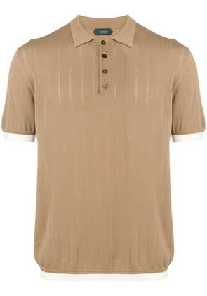 Zanone knit polo shirt - Neutrals