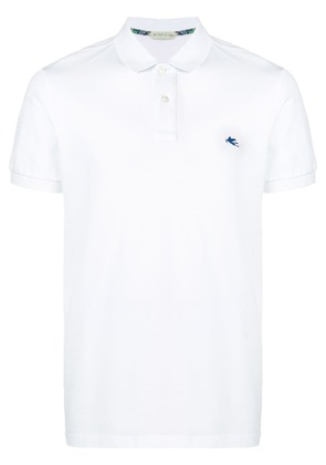 Etro logo polo shirt - White