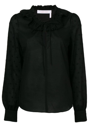 See By Chloé long-sleeve fitted blouse - Black