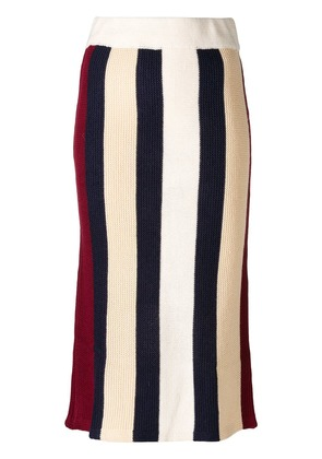 Jovonna Cecily striped knitted skirt - Neutrals