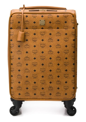 MCM logo print trolley - Brown
