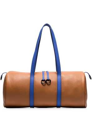 Simon Miller brown and blue Tool kit leather holdall