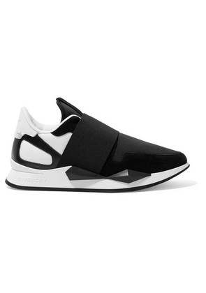 Givenchy - Runner Elastic Leather And Suede-paneled Neoprene Sneakers - Black