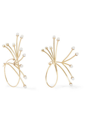 Ellery - Rarig Gold-plated Pearl Earrings - one size