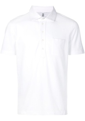 Brunello Cucinelli front pocket polo shirt - White