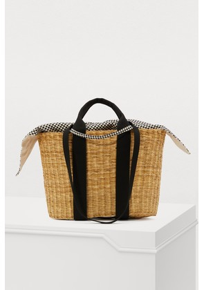 P HDL basket bag with pouch