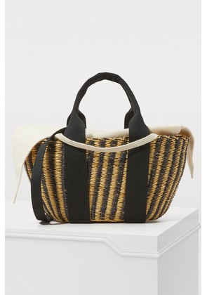 Ava basket bag with pouch