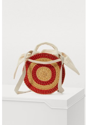 Round basket with pouch