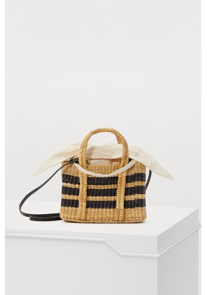 Basket bag with pouch