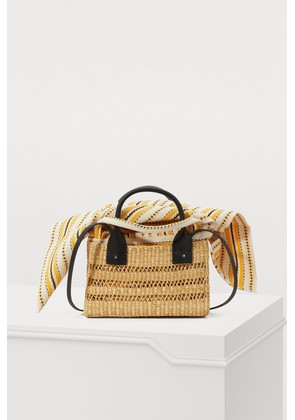 Charlotte basket bag with pouch