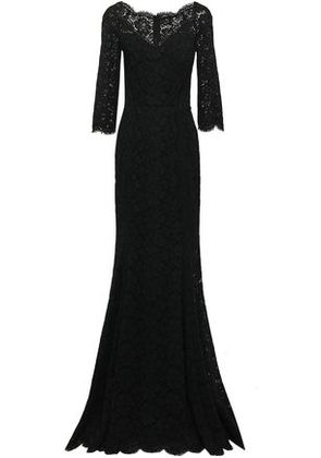 Dolce & Gabbana Woman Corded Lace Gown Black Size 38