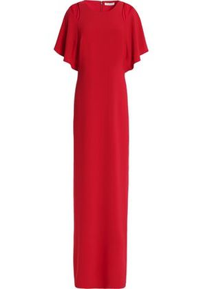 Halston Heritage Woman Cutout Crepe Gown Red Size 8