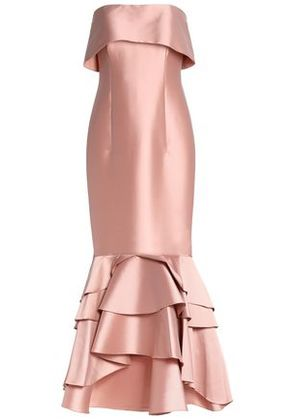 Sachin & Babi Woman Strapless Fluted Satin Gown Pink Size 0