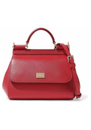 Dolce & Gabbana Woman Textured Leather Shoulder Bag Red Size -