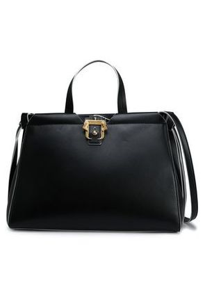 Paula Cademartori Woman Knotted Leather Shoulder Bag Black Size -