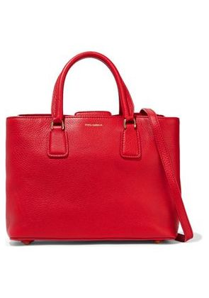 Dolce & Gabbana Woman Pebbled-leather Shoulder Bag Red Size -