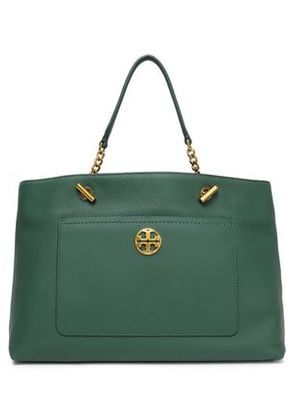 Tory Burch Woman Textured-leather Shoulder Bag Forest Green Size -