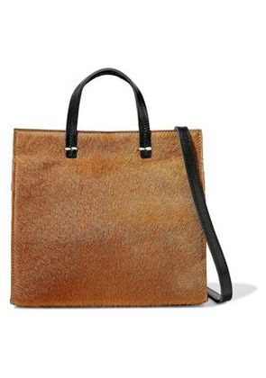 Clare V. Woman Petit Simple Calf Hair-paneled Leather Shoulder Bag Camel Size -