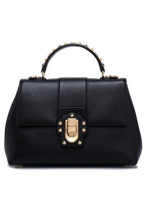 Dolce & Gabbana Woman Embellished Leather Tote Black Size -