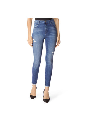 Leenah Super High Rise Ankle Skinny Jeans - Moonless