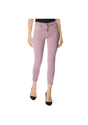 835 Mid Rise Cropped Photo Ready Skinny - Lilac Destruct