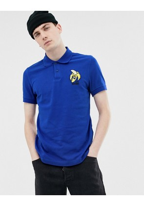 Love Moschino embroidered banana polo shirt
