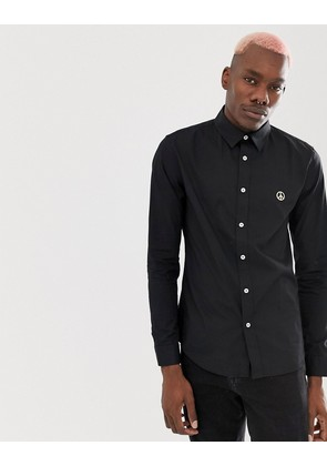 Love Moschino Slim Fit Shirt In Black