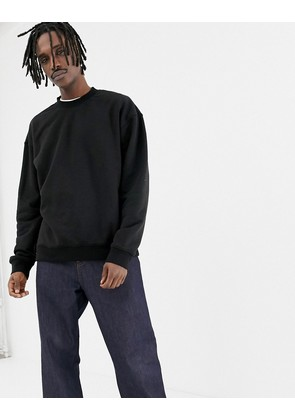 Weekday Big Steve sweatshirt in black