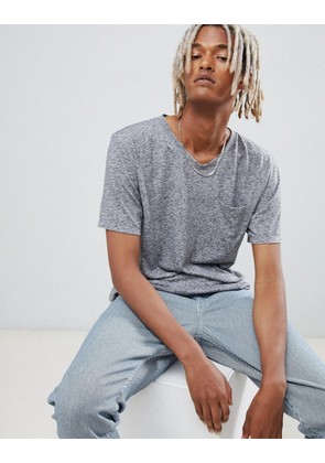 Weekday sonic pocket t-shirt grey melange