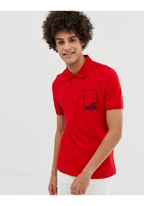 Love Moschino box logo polo shirt