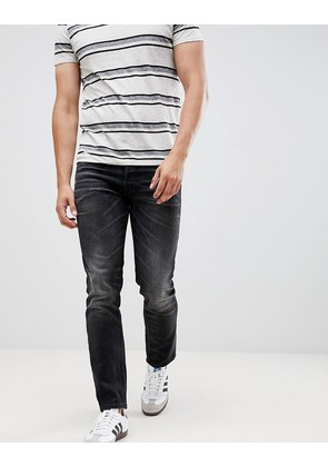 Jack & Jones Intelligence TIM slim fit turn up jeans in black