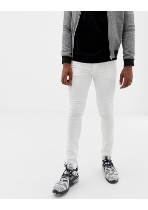 Jack & Jones skinny jeans in white coloured denim