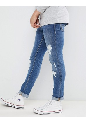 Jack & Jones Jeans In Slim Fit Distressed Denim