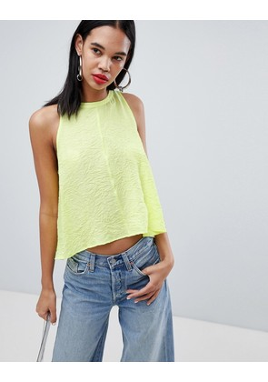 Weekday floaty tank top in neon