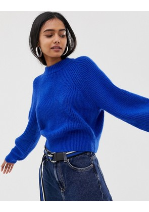 Weekday knitted jumper in cobalt
