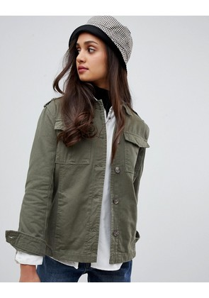 Brave Soul bamboo lightweight jacket in twill