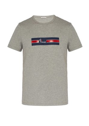 Moncler - Maglia Cotton T Shirt - Mens - Grey