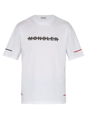 Moncler - Logo Print Cotton T Shirt - Mens - White