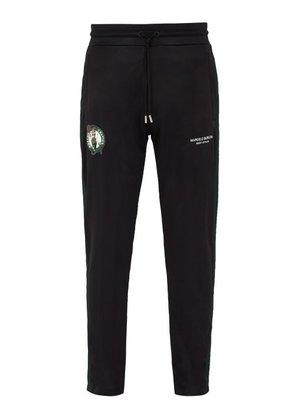 Marcelo Burlon - Boston Celtics Side Stripe Track Pants - Mens - Black Green