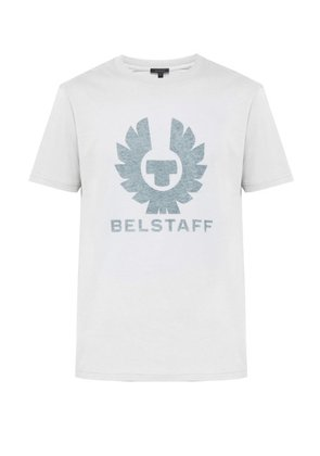 Belstaff - Coteland Cotton Jersey T Shirt - Mens - White