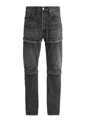 Balenciaga - Triple Hem Straight Leg Jeans - Mens - Grey