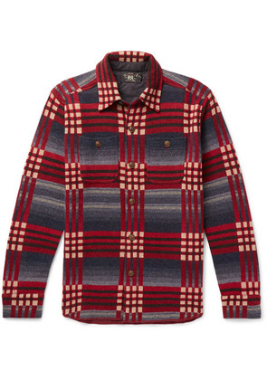 RRL - Checked Wool And Cashmere-blend Jacquard Shirt - Red