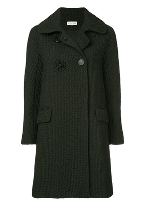 Dice Kayek textured double-breasted coat - Black
