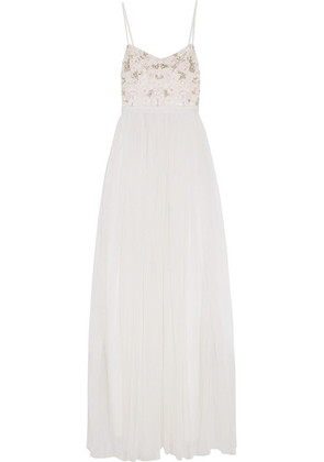 Needle & Thread - Embellished Tulle Gown - Ivory