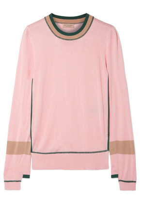 Burberry - Mancos Silk And Cashmere-blend Sweater - Pink