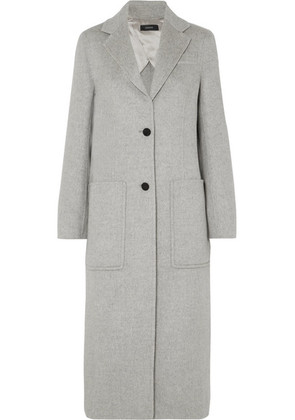 Joseph - Marvil Brushed Wool And Silk-blend Coat - Gray