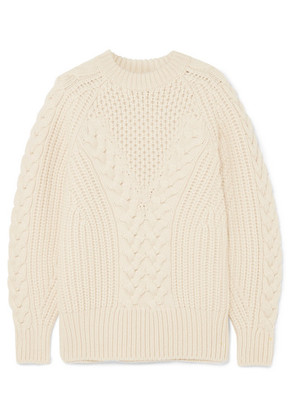 Alexander McQueen - Cable-knit Wool Sweater - Ivory