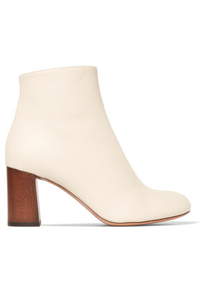 Chloé - Harper Palmer Textured-leather Ankle Boots - Cream