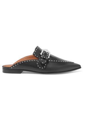 Givenchy - Studded Leather Slippers - Black