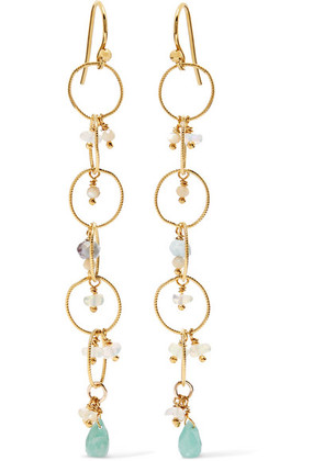 Chan Luu - Gold-plated Amazonite Earrings - one size